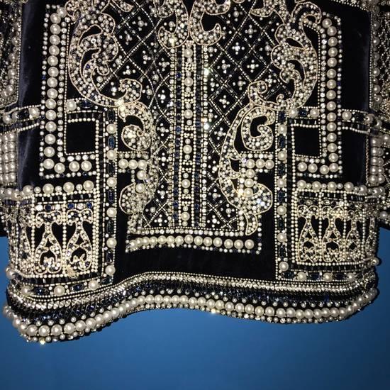 Balmain Balmain Fall 2012 Swarovski Crystal & Pearl Fabergé Tuxedo Size US XXL / EU 58 / 5 - 13