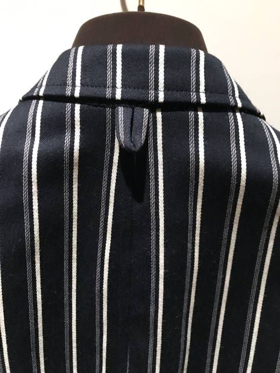 Thom Browne NAVY STRIPED CROPPED PREPPY BLAZER Size 48S - 5