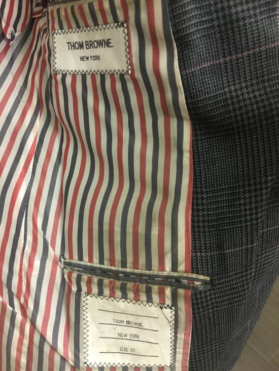 Thom Browne Thom Browne Prince of Wales w/ Red/White Overcheck Size 00 Size 34S - 4