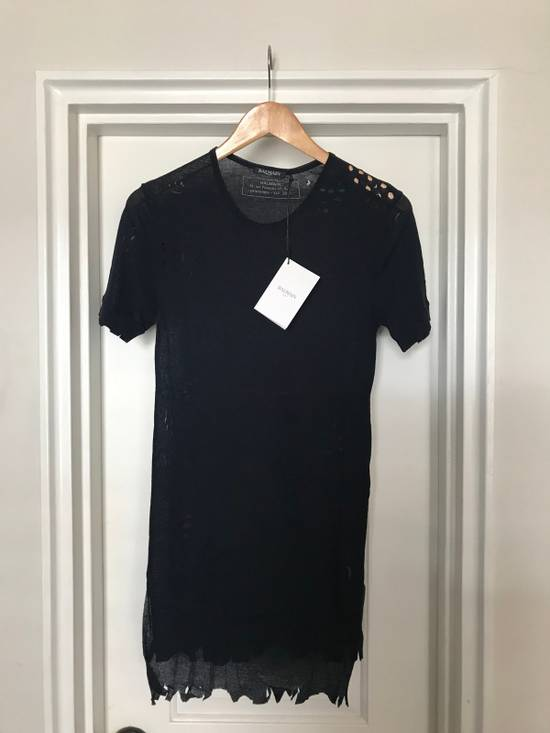 Balmain Distressed Ribbed Crew neck T Shirt Size US M / EU 48-50 / 2 - 1