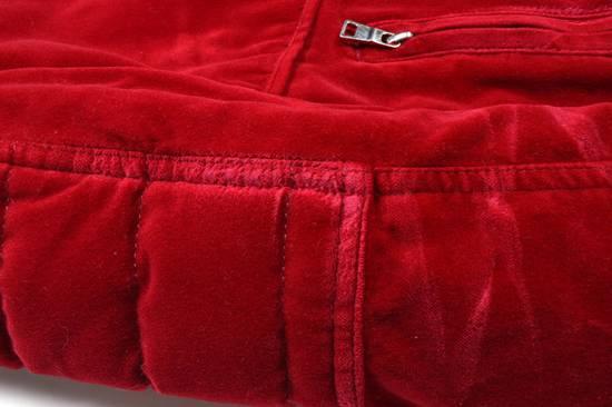 Balmain Badge Embellished Red Velvet Bomber Size US S / EU 44-46 / 1 - 5
