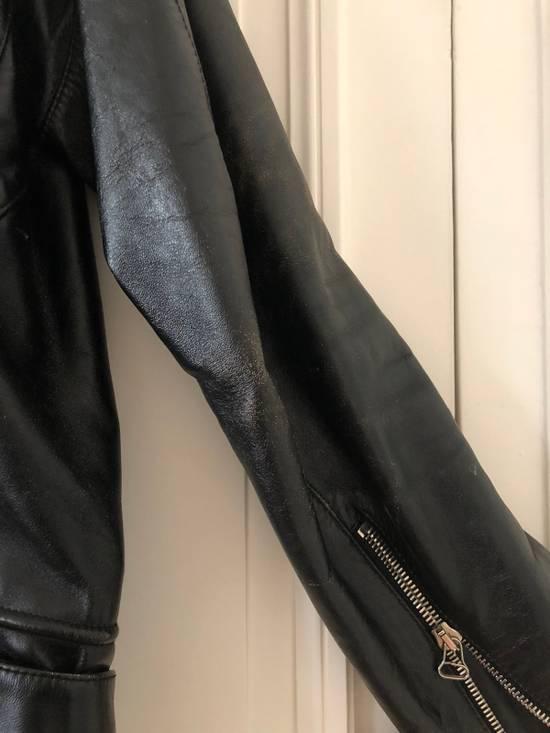 Balmain Black Horse Leather Double Rider Jacket Size US L / EU 52-54 / 3 - 8