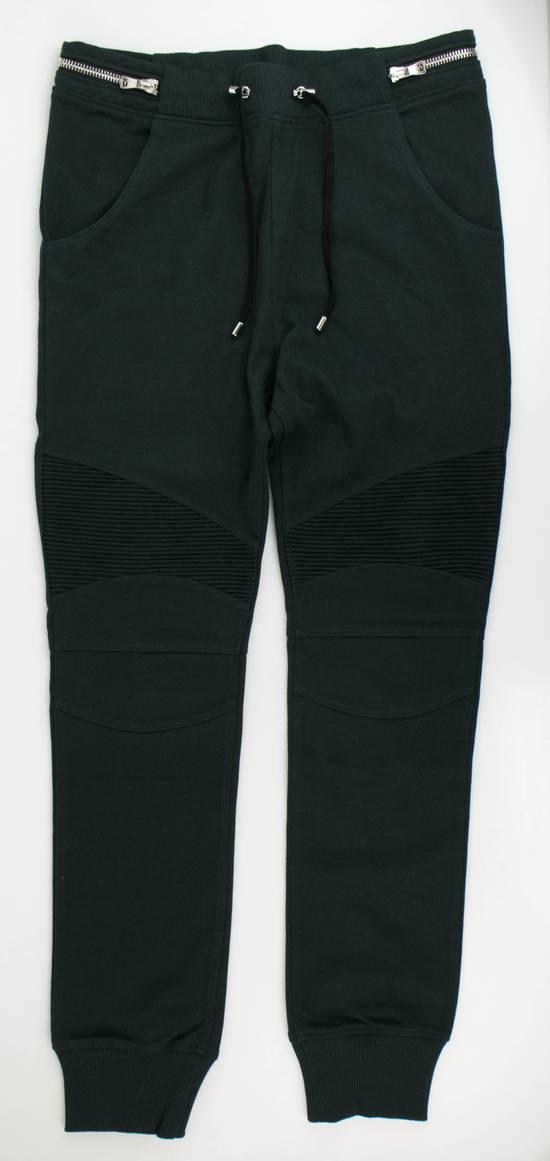 Balmain Men's Green Cotton Leggings Biker Pants Size XL Size US 38 / EU 54 - 1