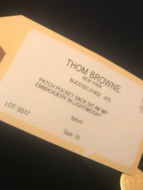 Thom Browne 00/0/1 Cashmere Patch Pocket Sack With Embroidery Size US XXS / EU 40 - 12