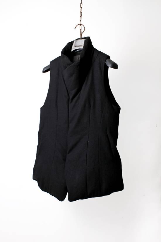 Julius 12aw Black Angora Nylon Serge Vest Size US L / EU 52-54 / 3 - 2