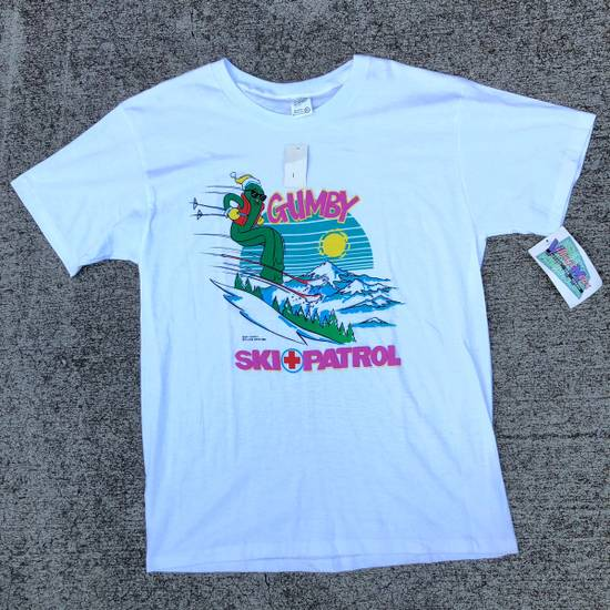 Vintage Vintage Gumby Ski Patrol Cartoon T Shirt 80s Village Mews Size US XL / EU 56 / 4