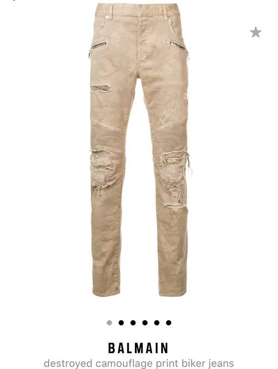 Balmain Balmain Camouflage Biker Jeans Size US 34 / EU 50 - 7