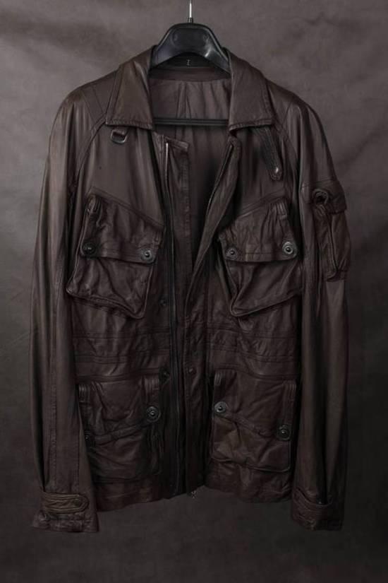 Julius Final Price! AW08 gasmask M65 leather jckt Size US L / EU 52-54 / 3 - 1