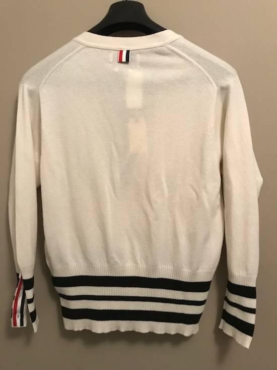 Thom Browne Cricket-Striped Cashmere Cardigan NEW Size US XL / EU 56 / 4 - 4