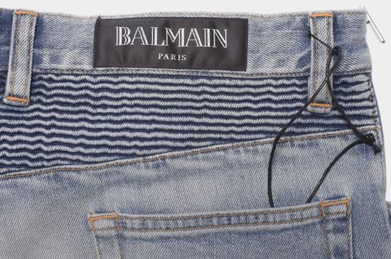 Balmain 1565$ Skinny Light Blue Distressed Biker Jeans Size US 30 / EU 46 - 8