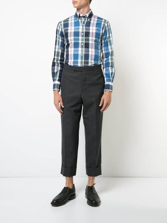Thom Browne Large Madras Check Poplin Cotton Shirt Size US M / EU 48-50 / 2 - 11