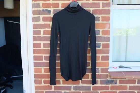 Balmain Black Ribbed Knit Roll Neck T-shirt Size US M / EU 48-50 / 2