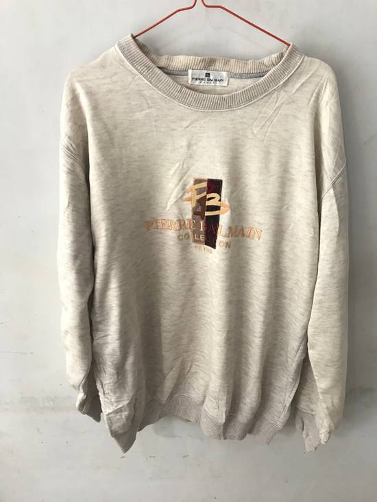 Balmain Vintage Sweater Pierre Balmain Spellout logo embroidery authentic Size US L / EU 52-54 / 3