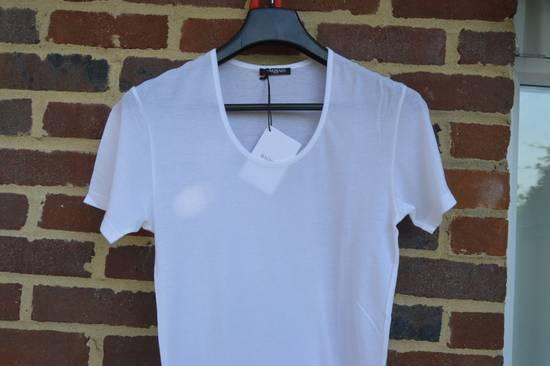 Balmain White Ribbed T-shirt Size US M / EU 48-50 / 2 - 5
