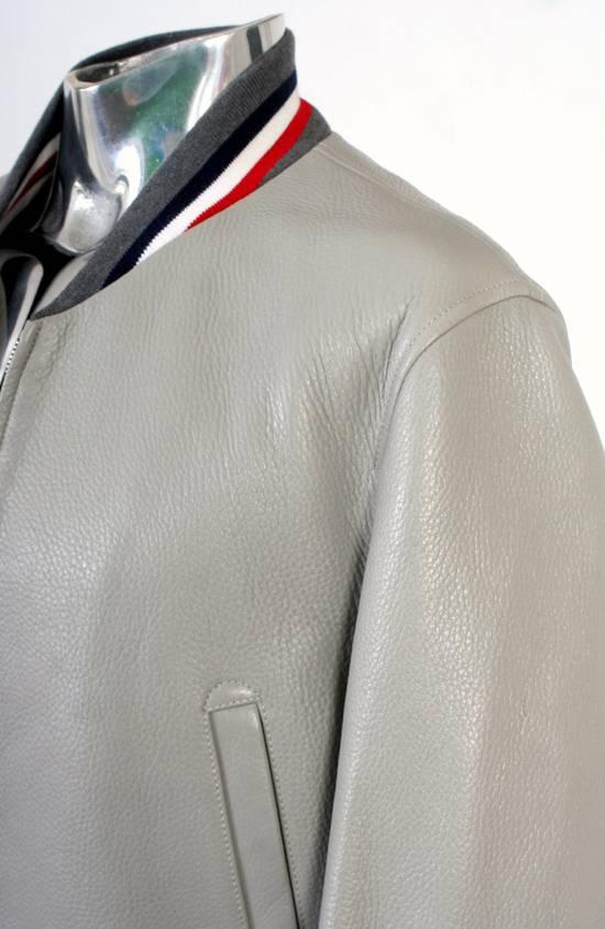 Thom Browne Thom Brown Deerskin Leather Varsity Jacket Grey Size 3 EU50 Medium RRP $3325 Size US M / EU 48-50 / 2 - 7