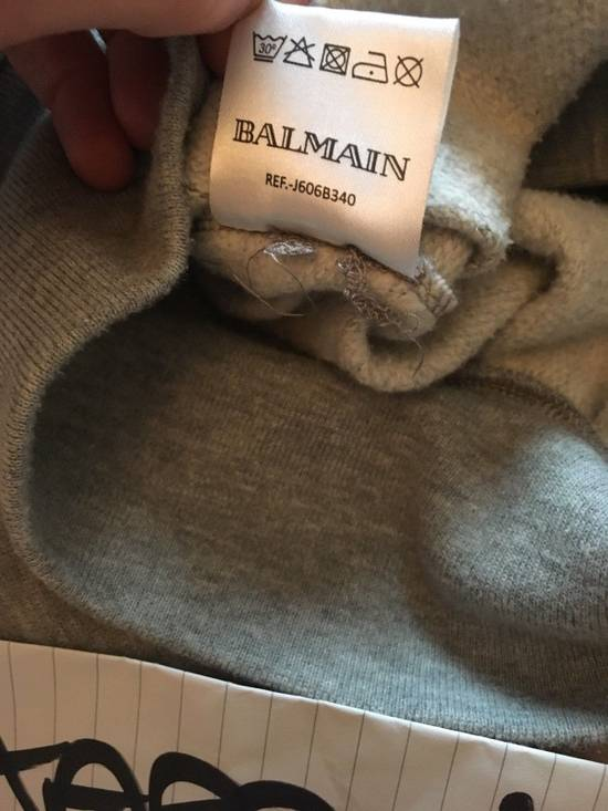 Balmain Balmain Distressed Grey Side Zip Hoodie Size US M / EU 48-50 / 2 - 4