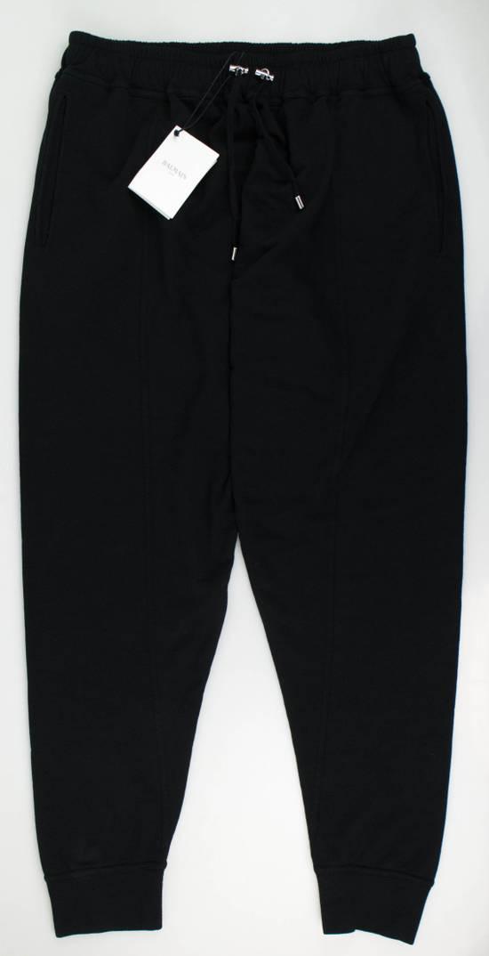 Balmain Men's Black Cotton Sarouel Jersey Pants Size Large Size US 36 / EU 52
