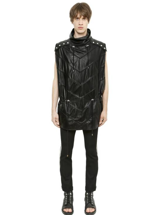 Balmain Balmain Sleeveless Leather Black Authentic $4890 Poncho Size S New Size US M / EU 48-50 / 2 - 3