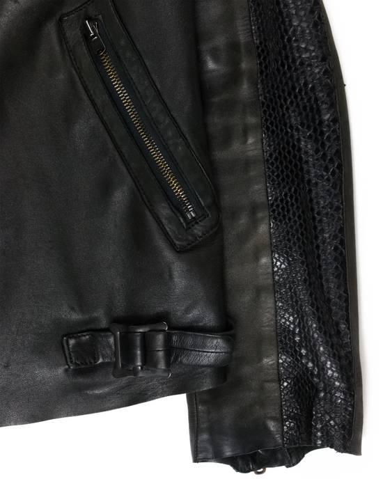 "Number (N)ine SS06 ""Welcome to the Shadow"" Python Leather Jacket Size US L / EU 52-54 / 3 - 2"