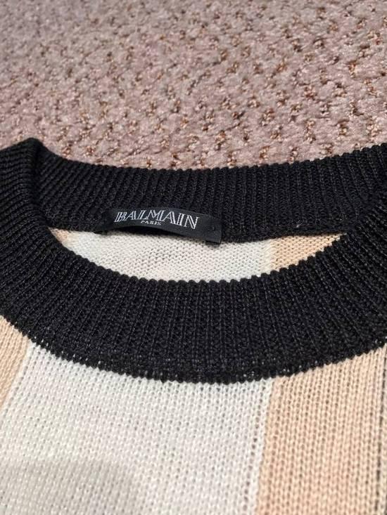 Balmain Union Jack Sweater beige/blk Size US XL / EU 56 / 4 - 4