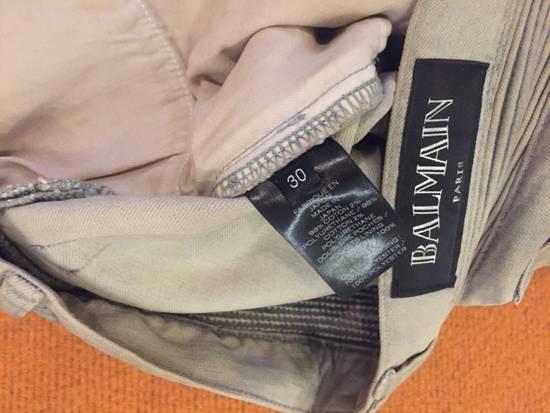 Balmain Grey Biker Denim Jeans Size US 30 / EU 46 - 6