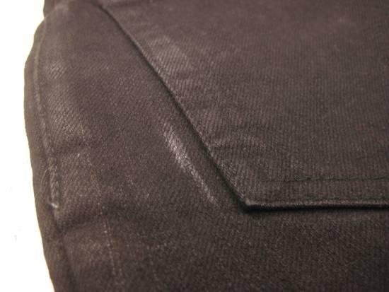 Balmain Classic Moto Jeans Made in Japan Style No. W4HT551C710W Black Coated Skinny Stretch Denim Biker Pants 32 x 32 Size US 32 / EU 48 - 19