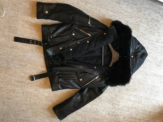 Balmain Leather Parka With Fur With Detachable Jacket And fur Size US M / EU 48-50 / 2 - 11
