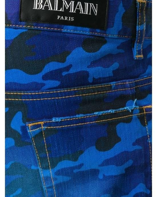 Balmain Balmain Blue Camo Denim Size US 30 / EU 46 - 1