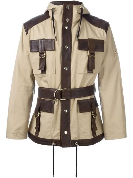 Balmain Leather and canvas hooded safari jacket Size US L / EU 52-54 / 3 - 2