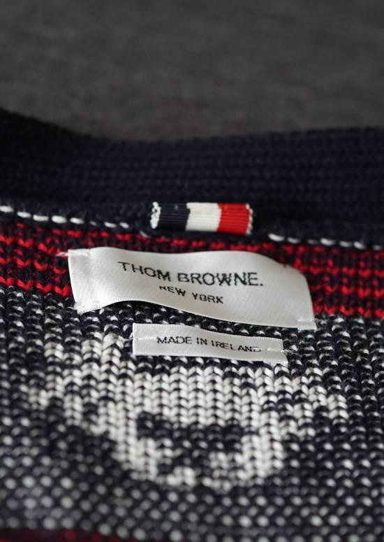 Thom Browne Thom Browne Fair Isle Cotton Cardigan in Navy, Red & White Size US M / EU 48-50 / 2 - 2
