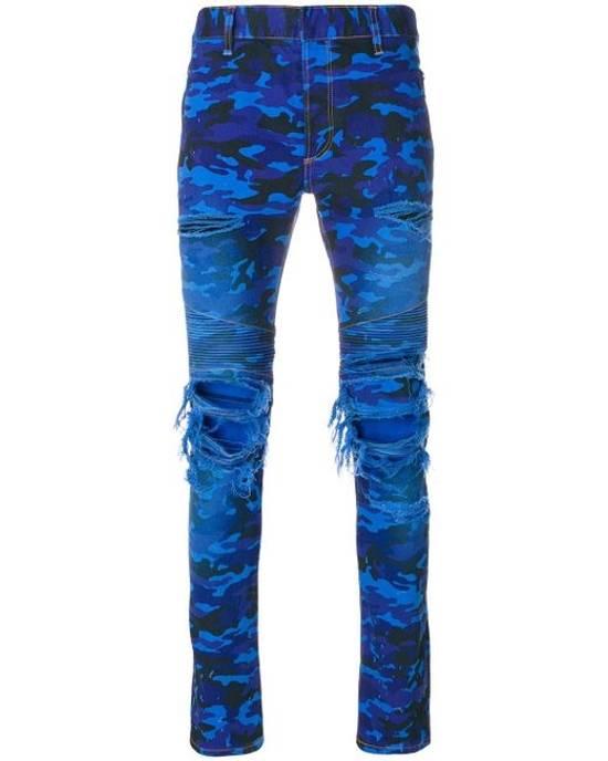 Balmain Balmain Blue Camo Denim Size US 30 / EU 46
