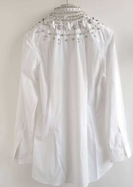 Givenchy GIVENCHY 2012 F/W STAR STUDS & CRYSTAL BEADS WHITE SHIRT Size US M / EU 48-50 / 2 - 6