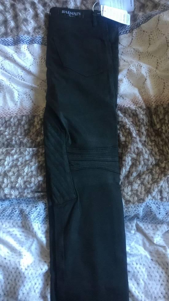 Balmain Balmain Black Denim Coated Authentic Biker $1230 Jeans Size 31 New Size US 31 - 7