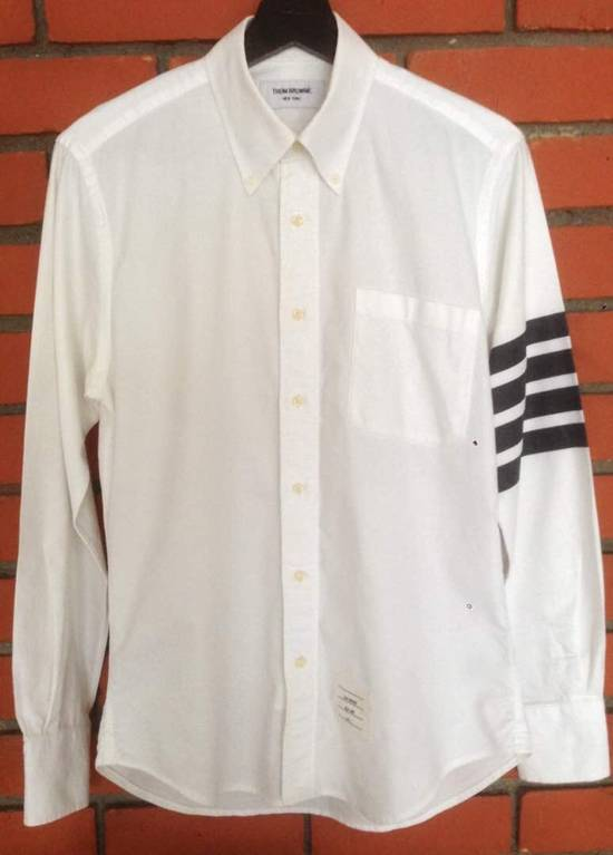 Thom Browne Nice Item !! White Stripe Left Side Thom Browne Button Up Size US M / EU 48-50 / 2