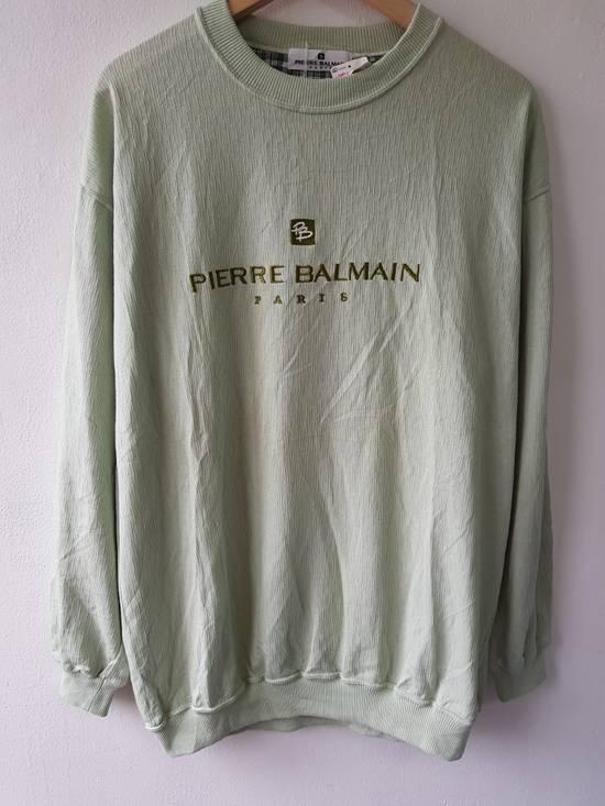 Balmain Japan Pierre Balmain Paris Embroidered Jumper Sweater Shirt Size US L / EU 52-54 / 3 - 1