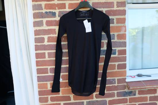 Balmain Black Ribbed Knit Long Sleeve T-shirt Size US S / EU 44-46 / 1