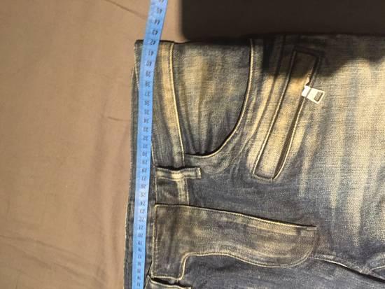 Balmain Classic Blue Denim BIKER RARE Jeans Size US 28 / EU 44 - 5