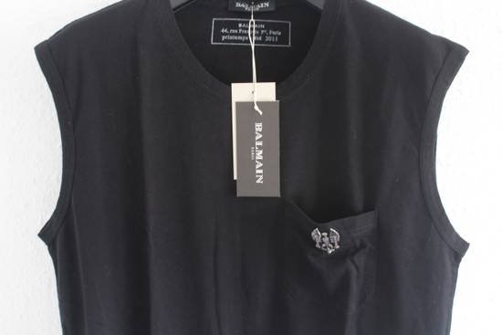 Balmain SS11 Decarnin Era Black Sleeveless Metal Pin Shirt Hand Made New Size US M / EU 48-50 / 2 - 1