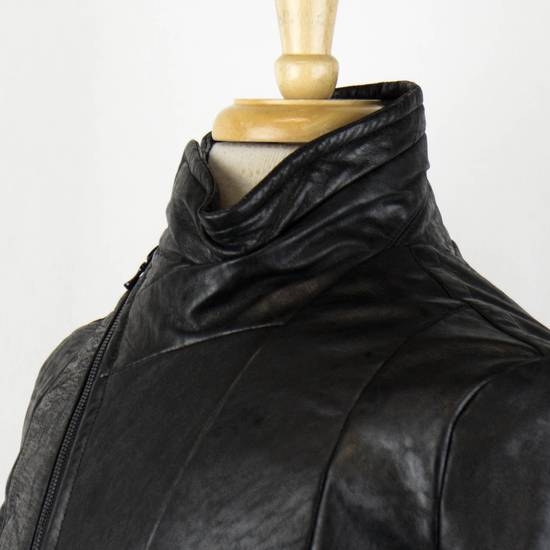 Julius 7 Men's Black Lamb Skin Leather Zip-Up Jacket Size 2/S Size US S / EU 44-46 / 1 - 4