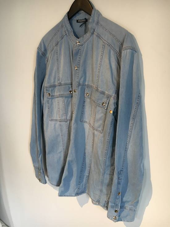 Balmain Balmain Mao Collar Denim Shirt Size US XXL / EU 58 / 5
