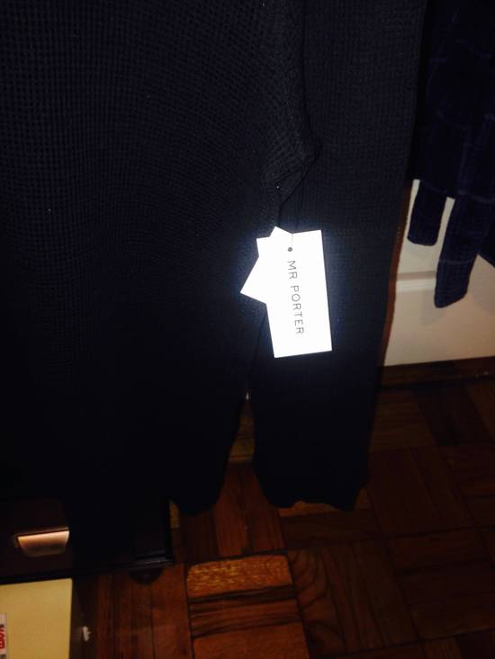 Balmain Balmain Black Mesh Cotton & Linen Long Sleeve Size US M / EU 48-50 / 2 - 2