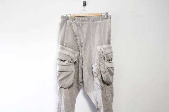 Julius SS12 Cotton Silk Satin Gas Mask Cargo Strapped Pants Size US 30 / EU 46 - 1