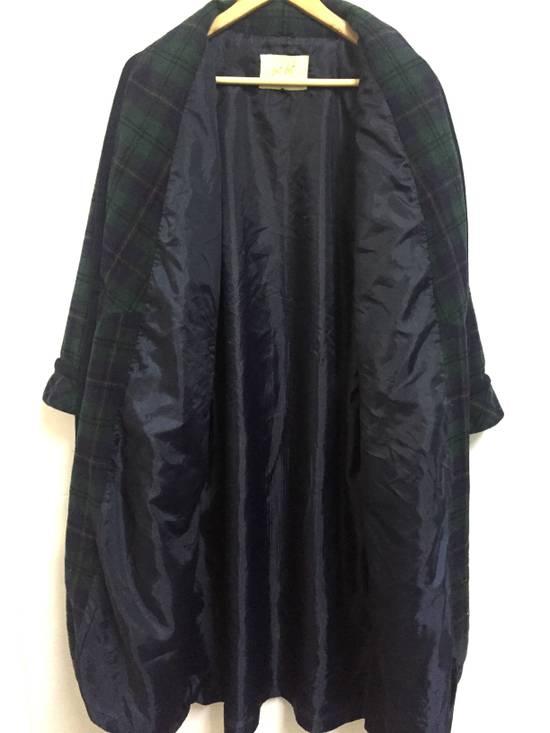 Balmain Vintage 90s Vent Vent PAR Pierre Balmain sleepwear wool plaid flannel in cupra lining japan. Size 38R - 5