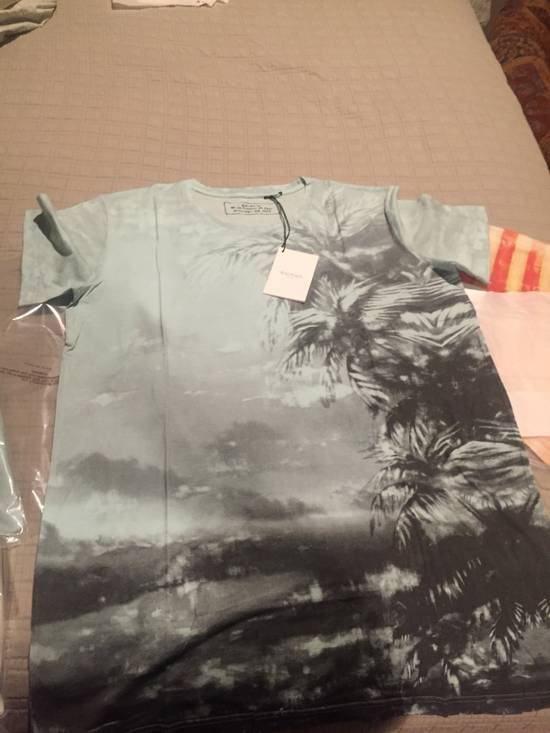 Balmain L & XL Light Blue Palm Tree S/S Size US M / EU 48-50 / 2 - 1