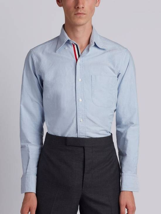 Thom Browne classic shirt with grosgrain placket in blue oxford Size US XS / EU 42 / 0 - 1