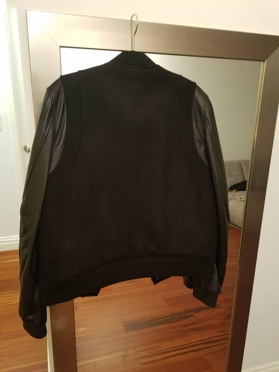 Balmain Balmain Varsity Teddy Bomber Jacket Leather Wool Black Size 52 Decarnin FW10 Large Baseball Size US L / EU 52-54 / 3 - 6