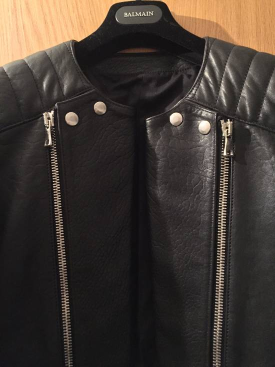 Balmain Leather Biker Jacket Lambskin Original SS12 Brand New Size US M / EU 48-50 / 2 - 3