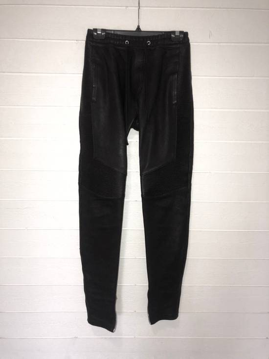 Balmain Leather Sweatpants Size S Size US 30 / EU 46
