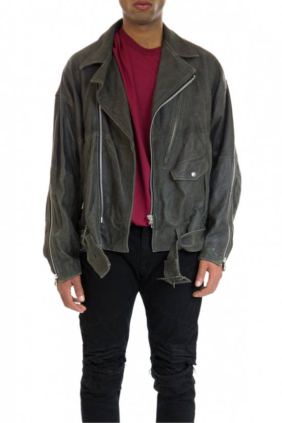 Julius Julius _ 7 oversized Biker Leather Jacket Size US L / EU 52-54 / 3 - 8