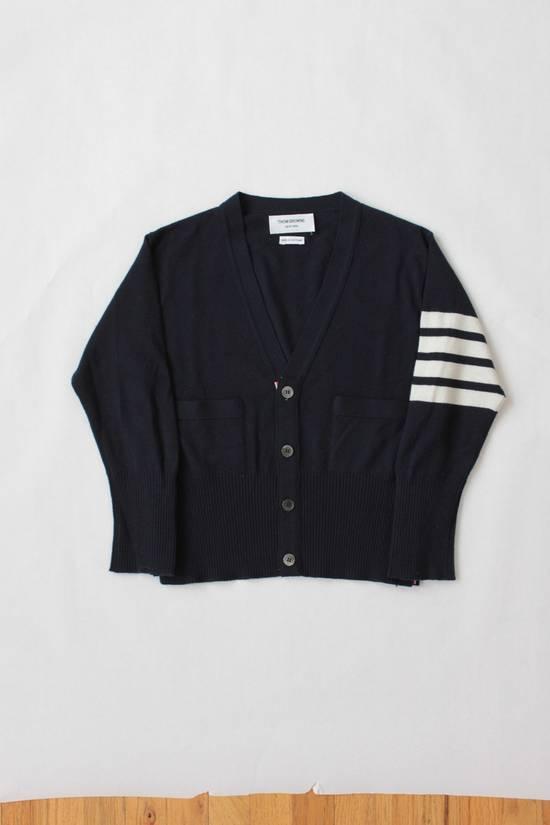 Thom Browne Navy Cashmere Classic 4 Bar Cardigan Size US S / EU 44-46 / 1